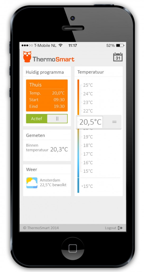 ThermoSmart iPhone app
