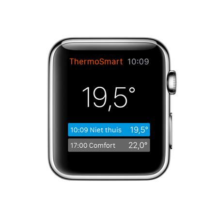 Apple Watch app van ThermoSmart